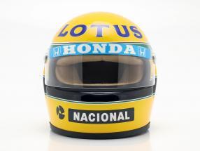 Ayrton Senna Lotus 99T #12 Formel 1 1987 Helm 1:2