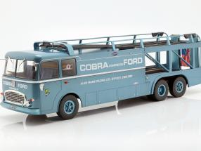 Fiat Bartoletti 306/2 Shelby Cobra Race transporter Alan Mann Racing Ltd 1:18 Norev