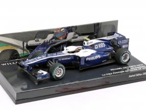 Nico Hülkenberg Williams FW32 #10 1st Pole Position Brazilian GP 1:43 Minichamps