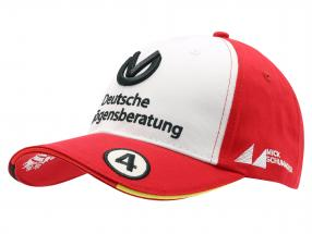 Mick Schumacher Cap #4 formula 3 champion 2018 red / white