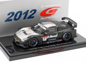 Nissan GT-R #1 Okayama Test Super GT500 Series 2012 Yanagida, Quintarelli 1:43 Ebbro