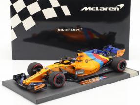 Fernando Alonso McLaren MCL33 #14 Last F1 Race Abu Dhabi GP 2018 1:18 Minichamps