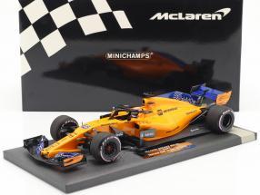 Carlos Sainz jr. McLaren MCL33 #55 Test Abu Dhabi GP F1 2018 1:18 Minichamps