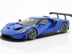 Ford GT LeMans Plain Body Version blue 1:18 AUTOart