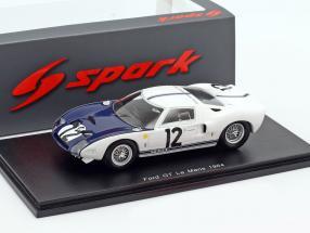Ford GT40 #12 24h LeMans 1964 Schlesser, Attwood 1:43 Spark