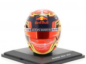 Alexander Albon #23 Aston Martin Red Bull Racing Formel 1 2019 Helm 1:5 Spark