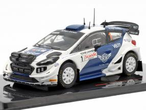 Ford Fiesta WRC #1 5th Arctic Lappland Rallye 2019 Bottas, Rautiainen 1:43 Ixo