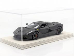 high acrylic showcase with alcantara baseplate for model cars in the scale 1:18 beige BBR
