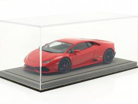 High quality Acrylic Showcase for Model Cars in the Scale 1:18 light-gray BBR