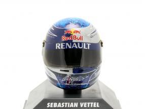 S. Vettel Red Bull GP Istanbul Formula 1 World Champion 2011 Helmet 1:8 Minichamps