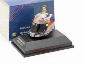 S. Vettel Red Bull GP Monaco Formula 1 World Champion 2011 Helmet 1:8 Minichamps