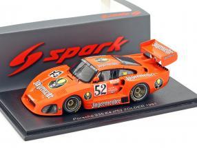 Porsche 935 K4 Jägermeister #52 2nd Zolder DRM 1981 Bob Wollek 1:43 Spark