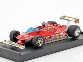 Gilles Villeneuve Ferrari 312T4 #12 2nd French GP formula 1 1979 1:43 Brumm