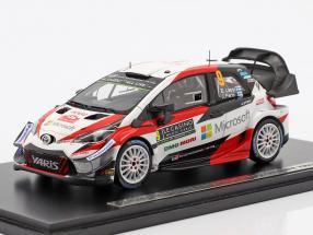 Toyota Yaris WRC #9 7th Rallye Monte Carlo 2018 Lappi, Ferm 1:43 Spark