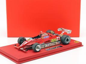 Gilles Villeneuve Ferrari 126 C2 #27 Belgium GP formula 1 1982 with showcase 1:18 BBR