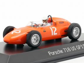 Carel Godin de Beaufort Porsche 718 #12 USA GP Formula 1 1963 1:43 Spark
