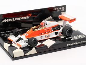 B. Giacomelli McLaren Ford M26 British GP 1978 1:43 Minichamps