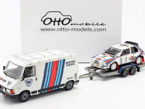3-Car Set Winner Rallye Monte Carlo 1986 Lancia Martini 1:18 OttOmobile