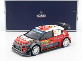 Citroen C3 WRC 2018 #10 Winner Rally Catalunya 2018 Loeb, Elena 1:18 Norev