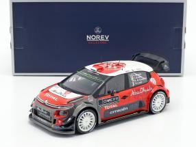 Citroen C3 WRC 2018 Showcar 2018 Meeke, Breen, Loeb, Al Qassimi 1:18 Norev