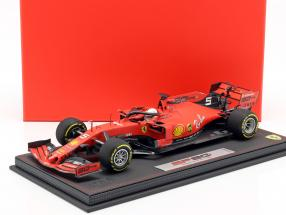 Sebastian Vettel Ferrari SF90 #5 4th Australian GP F1 2019 with showcase 1:18 BBR