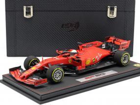S. Vettel Ferrari SF90 #5 4th Australian GP F1 2019 with showcase and leather box 1:18 BBR