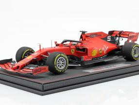 S. Vettel Ferrari SF90 #5 4th Australian GP F1 2019 with showcase and leather box 1:18 BBR