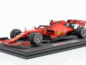 C. Leclerc Ferrari SF90 #16 5th Australian GP F1 2019 with showcase and leather box 1:18 BBR