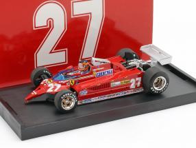 Gilles Villeneuve Ferrari 126CK #27 Duell mit F-104 Istrana 1981 1:43 Brumm