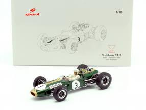 Jack Brabham Brabham BT19 #3 formula 1 World Champion 1966 1:18 Spark