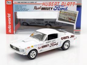 Ford Mustang S/S Cobra Jet Baujahr 1968 50th Anniversary weiß 1:18 Autoworld