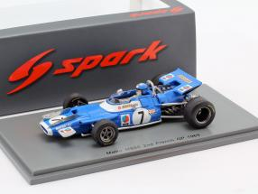 Jean-Pierre Beltoise Matra MS80 #7 2nd French GP formula 1 1969 1:43 Spark