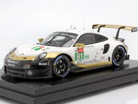 Porsche 911 RSR #91 world champion 24h LeMans 2019 with showcase 1:12 Spark