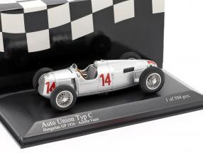 Achille Varzi Auto Union Typ C #14 Hungarian GP Formula 1 1936 1:43 Minichamps