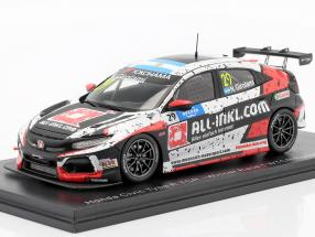 Honda Civic Typ R TCR #29 Winner Race 1 WTCR Hungaroring 2019 Girolami 1:43 Spark