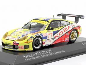 Porsche 911 GT3 RS #77 12h Sebring 2007 Konopka, McCormick, Casadei 1:43 Minichamps