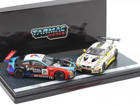 2-Car Set BMW M6 GT3 #99 & #34 Double winners 24h Spa 2018 1:64 Tarmac Works
