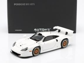 Porsche 911 GT1 Baujahr 1997 Plain Body Version weiß 1:18 AUTOart