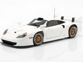 Porsche 911 GT1 Year 1997 Plain Body Version white 1:18 AUTOart
