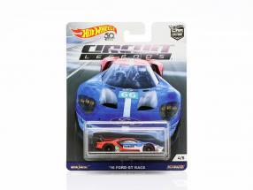 Ford GT Race #66 2016 blau / rot / weiß 1:64 HotWheels