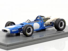 Jean-Pierre Beltoise Matra MS11 Presentation Car Formel 1 1968 1:43 Spark