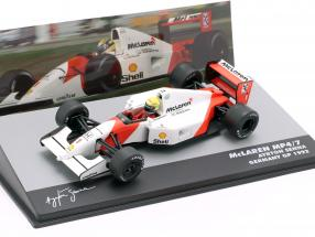 Ayrton Senna McLaren MP4/7 #1 Germany GP formula 1 1992 1:43 Altaya