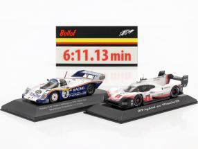 2-Car Set Porsche 919 Hybrid & Porsche 956K Rekordrunde Nürburgring 2018 / 1983 1:43 Spark, CMR