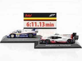 2-Car Set Porsche 919 Hybrid & Porsche 956K Record lap Nürburgring 2018 / 1983  , CMR