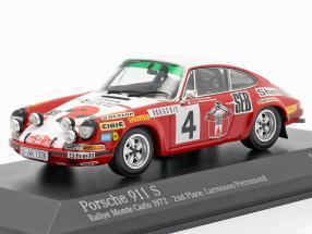 Porsche 911 S #4 2nd Rallye Monte Carlo 1972 Larrousse, Perramond 1:43 Minichamps