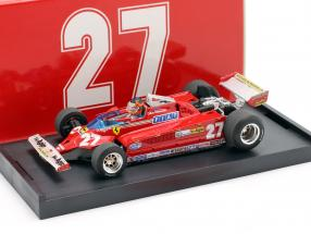 Gilles Villeneuve Ferrari 126CK #27 Italien GP Formel 1 1981 1:43 Brumm