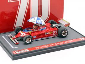 Gilles Villeneuve Ferrari 126CK #27 Sieger Spanien GP Formel 1 1981 1:43 Brumm