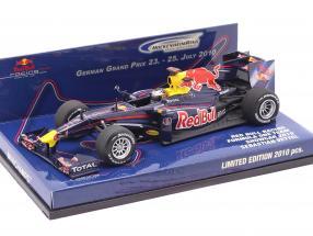 Sebastian Vettel Red Bull Racing Renault RB5 Showcar Formel 1 2010 1:43 Minichamps
