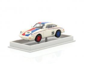 Porsche 911 #59 weiß / blau / rot 1:87 Brekina