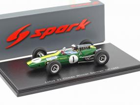 Jim Clark Lotus 33 #1 Winner German GP World Champion F1 1965 1:43 Spark